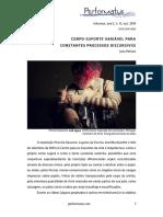 CORPO-SUPORTE VARIÁVEL PARA CONSTANTES PROCESSOS DISCURSIVOS
