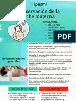Conservacion leche materna