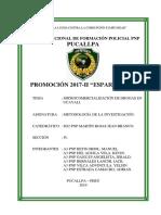 Microcomercializacion de Drogas en Ucayali