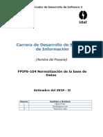 FPIPS-104 Normalizacion de La BD