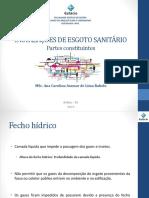 IPHS - Aula 3.1 - Esgoto Sanitário - Partes Constituintes