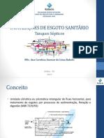 IPHS - Aula 3.4 - Esgoto Sanitário - Tanques Sépticos