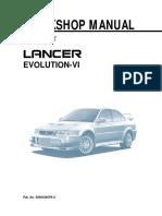 Mitsubishi Lancer VI Workshop Manual 1999 - Eng