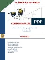 Mecánica de Suelos Consitencia Del Suelo 03SET
