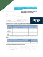 Anexo N° 06 Modelo solicitud de reconocimiento OC y CD