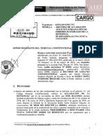 Recurso de aclaración sobre habeas corpus de Keiko Fujimori