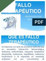 FALLO TERAPÉUTICO