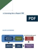 e-Lisensing & Report PBF