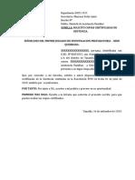 Solicita Copias Certificadas