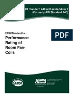ANSI AHRI Standard 440-2008 With Addendum 1