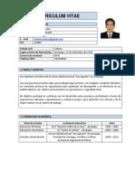 Curriculum Vitae Marco Cuadros Salcedo