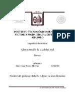 Ensayo Administracion Saenz Moreno