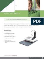 10001267E v04 NycoCard HbA1c BrochureENOUS (1)
