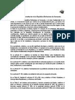 resumen de la constitucion de la republica bolivariana de venezuela