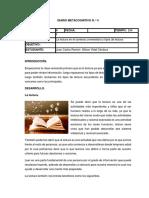 Diario Metacognitivo 4 Final