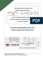 Plan Matriz de Mantenimiento Línea 13,8 Kva.
