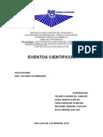 EVENTOS CIENTÍFICOS Los Eventos Científicos