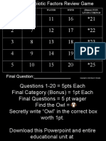 Non-Living Factors Powerpoint Quiz Game with Answers - For Educators - Download Powerpoint at www. science powerpoint .com