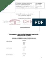 PROCEDIMIENTO MANTENCIÓN PUENTES DE DERIVACIÓN Y EMPALMES DE LD 13.8 KV
