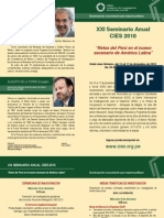 Programa Seminario CIES 2010