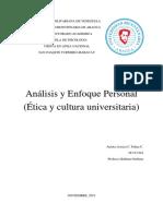 Ética y Cultura Universitaria