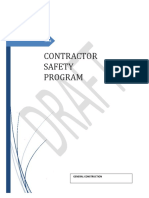 Written Contractor Safety Program