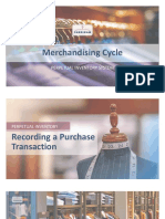 Merchandising Cycle - Perpetual Inventory Systems
