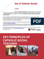 Principle of catholic teaching