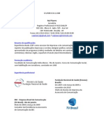 Curriculum Jornalista Rui Pizarro