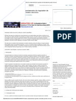 Análise Do Comportamento Do Regulador de Velocidade de Gerador Síncrono