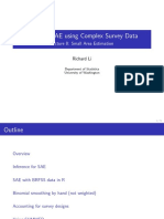 Bayesian SAE using Complex Survey Data