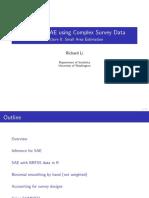 Bayesian SAE using Complex Survey Data