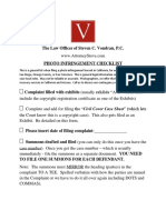 California Federal Court Photo Infringement Checklist VondranLegal