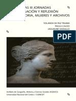 Libro de las jornadas de Historia Mujeres y Archivos