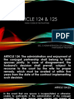 ARTICLE 124 & 125 Family code