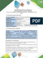 Guía de actividades y rúbrica de evaluación – Actividad 6 - Fase final  Floricultura