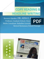 Copy Reading & Headline Writing