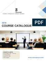 2018 Consepsys Course Catalogue