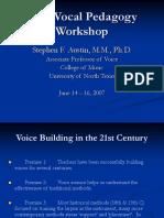 Vocal Pedagogy 2007