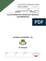 Procedimiento Plan de Preparación, Prevención y Respuesta Ante Emergencias