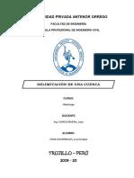 Delimitacion de Cuenca en ArgGIS
