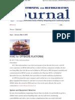 Hvac for Offshore Platforms..