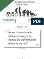 Digital Disruption and Fintech