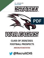 Chestatee High School Football Prospect List 2020-2021
