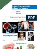 Application of Hydrocolloids in the Beverage Industry - Dedi Fardiaz