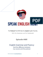 081 English Grammar and Fluency the Difference Between Courses and the Podcast