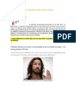 30 Cosas Que Dicen en Las Iglesias Que NO Están en La Biblia