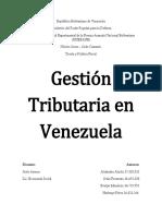 Gestión Tributaria en Venezuela (TRABAJO)