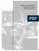 Manual de orientação para a elaboração do Trabalho de Conclusão de Curso