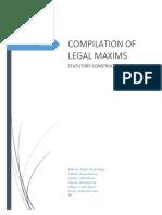 Legal Maxims
